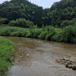 王滝渓谷で川遊び、近い駐車場はここです!